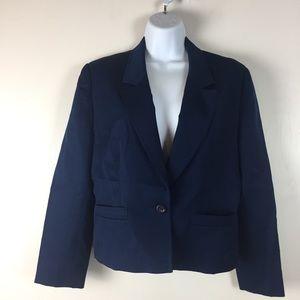 Pendleton Wool Blazer Womens Petite 12 Blue Career